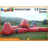 Buy cheap multi - color 0.6mm PVC Tarpaulin Inflatable Barriers For Paintball Sports from wholesalers