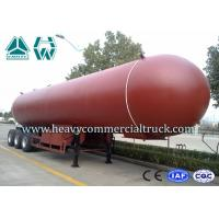 China Manual Tri Axle 56CBM Aluminium Alloy LPG Tank Trailer Big Capacity wholesale