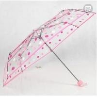 China Folding Compact Pink Bubble Umbrella Manual Open Print POE Canopy 25cm Fold Lenght wholesale