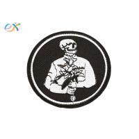 China Romantic Logo Custom Motorcycle Patches Pantone Color With Merrow Border wholesale