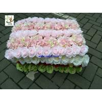 China UVG fashionable artificial flower mat carpet in roses and hydrangeas for wedding backdrop wall decoration CHR1136 wholesale