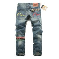 China Wholesale new 2014 EVISU three color small M hole in national fashionable style mens jeans wholesale