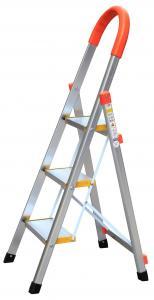 China Silver 3 Step 1.0mm Household Aluminium Ladder wholesale