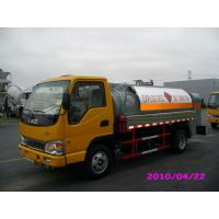 Quality 4000L 4x2 JAC chassis (115HP) Mobile Refueling truck for Light Gasoline Delivery for sale