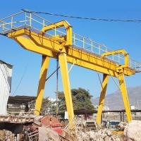 Buy cheap 50 Ton Electric Mobile Rail Mounted Double Girder Gantry Crane Compact Structure from wholesalers