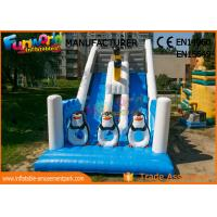 Buy cheap Penguin Double Sided Outdoor Inflatable Water Slides Durable And Fireproof from wholesalers