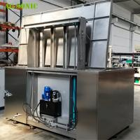 China Automatic Ultrasonic Cleaner with Hydraulic Lift PLC Controlled for Wheel Rim Cleaning wholesale