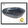 China Xiamen Kungfu Stone Ltd supply Oval Black Granite Basin For Indoor Kitchen,Bathroom wholesale