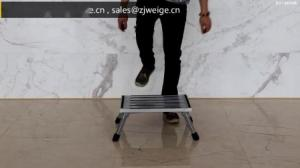 China Silver Foldable 48cm 2x1 Safety Step Stool wholesale