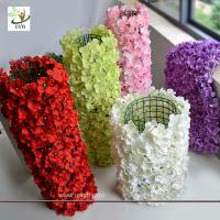 China UVG wall decoration flower backdrop in fake hydrangea petals for wedding backdrop ideas wholesale