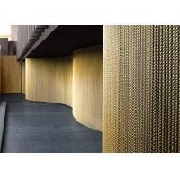 China Gold Color Aluminum Chain Link Mesh Curtain For Balconies And Corridors wholesale