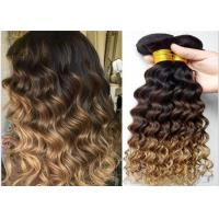 China 7A Grade Real Ombre Human Hair Extensions , Deep Wave Ombre Real Hair Extensions Two Tone wholesale