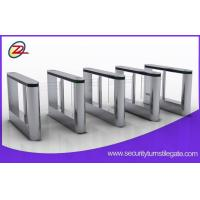 Quality Building 316 stainless access control swing turnstile with fingerprint scanner for sale