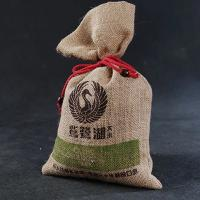 China Reusable Cotton Drawstring Bags Bulk / Economical Plain Canvas Drawstring Bags wholesale