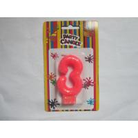 Quality Pink NO Three Number Birthday Candles 19.3g Glittering Paraffin Wax For Party wholesale
