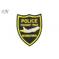 China Professional Police Embroidered Patch Iron On Backing For Uniform Garments wholesale
