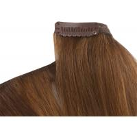China Pre - Bonded Clipping In Hair Extensions Full Head Real Human Hair wholesale