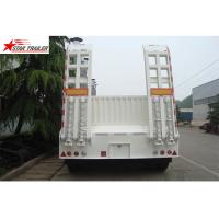 China High Point Load Low Flatbed Semi Trailer With Mechanical Suspension wholesale
