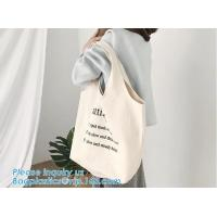 China customized cotton canvas tote bag cotton bag promotion recycle organic cotton tote bags wholesale,Handle Canvas Bag Tote wholesale