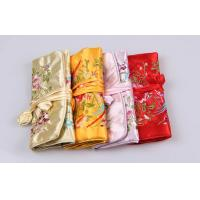 Quality Beautiful Embroidery Jewelry Bundle Type Travel Organizer Bag of Bright Silk for sale