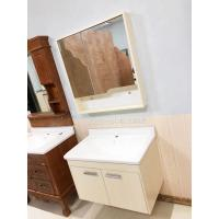 China 5mm Silver Glass Mirror Simple  Bathroom Wall Hanging Cabinets With Ceramic Basin wholesale