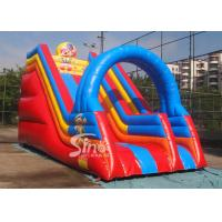 China Popular children happy clown inflatable slide with arch full digitally printed wholesale
