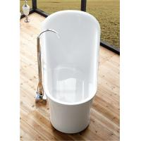 1 Person Elegant Acrylic Free Standing Bathtub Oval Soaking Tub Multiple Colors