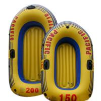 China Environmental Friendly PVC Inflatable Boats Orange For 2 Person 92 x 53cm wholesale