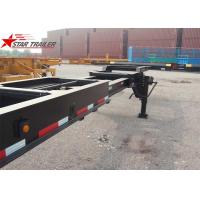 China 8 Tires Black Color 20 Ft Skeletal Trailers Goosneck Container Semi Trailer wholesale