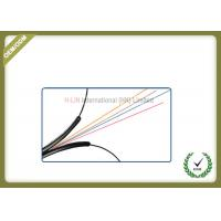 China Indoor 4 core Fiber Optic Drop Cable for fiber to the home use black LSZH jacket wholesale