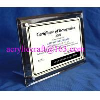 China Acrylic Table Top Menu / Photo / Picture Holder 4 X 6 With Set Screw wholesale