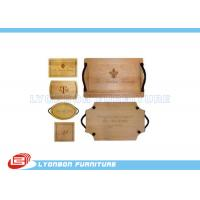 OEM Display Accessory Wood Engraving Logo Paint Finished , Customize Size