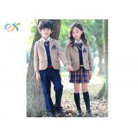 China Custom Winter Primary School Uniform Jacket / Skirt / Pants For Students wholesale