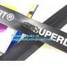 China Waterproof heat seal apparel packaging seal with slider zip, pvc zipper lock slider/Resealable PVC Slider Zip seal zip wholesale