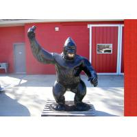 Buy cheap Casting Finish Life Size Antique Fiberglass Bronze Gorilla Statue from wholesalers