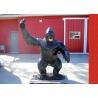 China Antique Fiberglass Bronze Statue Gorilla Statue Animal Design Public Decoration wholesale