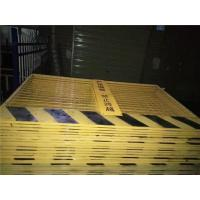 Elevator / Wellhead Temporary Metal Fencing Yellow Foundation Pit Protection Fence