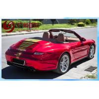 China Auto Tuning Red Chrome Vinyl With Air Free Bubbles For Car Cover wholesale