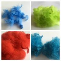 China Dope Dyed Staple Recycled Pet Fiber 2.5D - 15D Staple Fiber For Non Woven wholesale