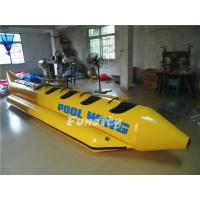 Quality Single Tube Yellow Black Inflatable Banana Boat Customized Sea Ocean for sale