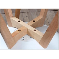 China Solid Beech Wood Legs , Wooden Dining Chair Legs Strong Nail Holding Force wholesale