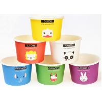 China Eco Friendly Custom Branded Ice Cream Cups Disposable With Spoons And Lids wholesale