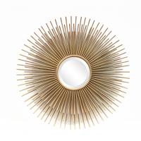 China FR-15402 sunburst wall mirror for home decoration in metal with gold leaf wholesale