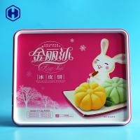 Quality PP Plastic IML Box L25.7 * W21.3 * H6.9  480g Cake Dry Fruit Packing for sale