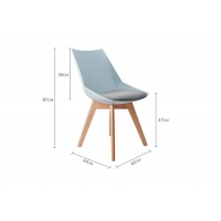 China Breathable Nordic Style Dining Chair , Leather Dining Chairs With Wooden Legs wholesale