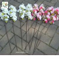 China UVG Plastic tree branches with artificial cherry blossoms for wedding table decoration CHR wholesale