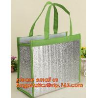 China thermal insulation 600D polyester cooler tote bag,Aluminum foil cold thermal insulation shoulder cooler bag bagease pac wholesale
