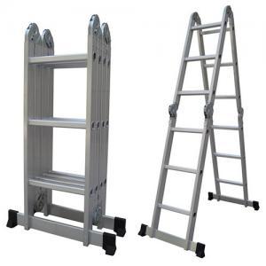 China Silver 4x3 12.14ft Folding Scaffold Platform Ladder wholesale