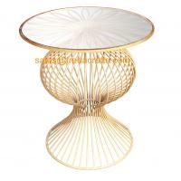 """China """"S"""" Style Round Mirror Top Metal Base with Hand foil Finish Coffee Table in Wholesale wholesale"""