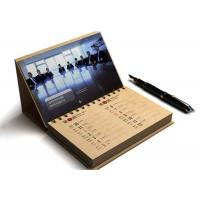 China Card Paper Promotional Calendar Printing , Desktop Calendar Printing OEM Available wholesale